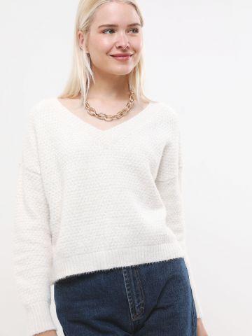 סוודר שניל עם מפתח וי של TERMINAL X