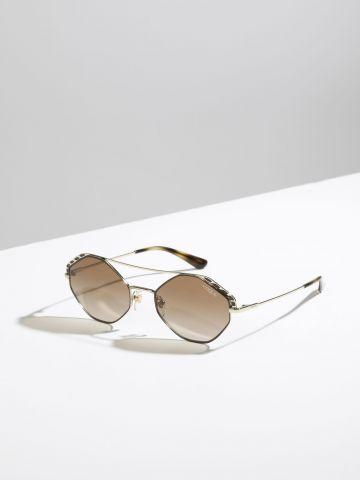 משקפי שמש מתומנים עם גשר מטאלי Metallic Wing של vogue eyewear