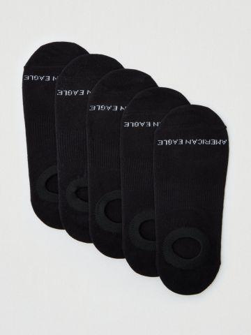 מארז 5 זוגות גרביים נמוכים עם לוגו / גברים של AMERICAN EAGLE