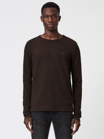 חולצת סריג עם רקמת לוגו של ALL SAINTS