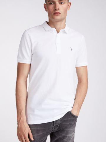 חולצת פולו עם רקמת לוגו Slim-fit של ALL SAINTS