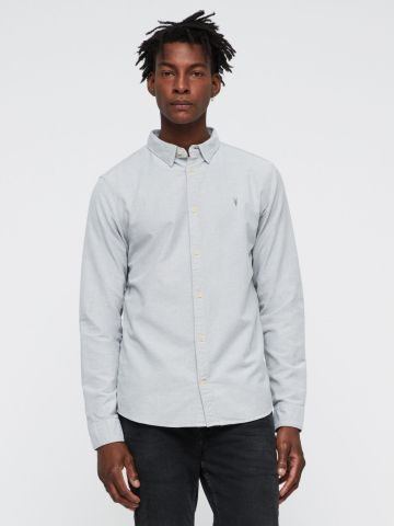 חולצה מכופתרת עם רקמת לוגו של ALL SAINTS