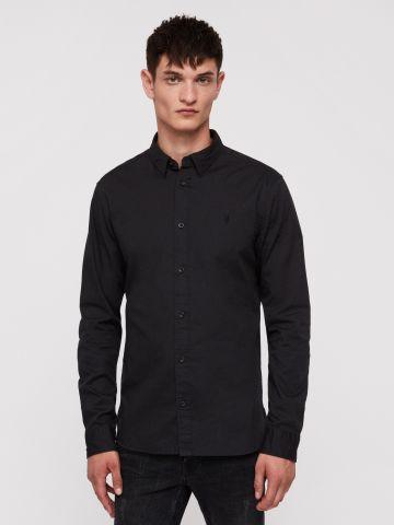 חולצה מכופתרת עם רקמת לוגו Slim-fit של ALL SAINTS