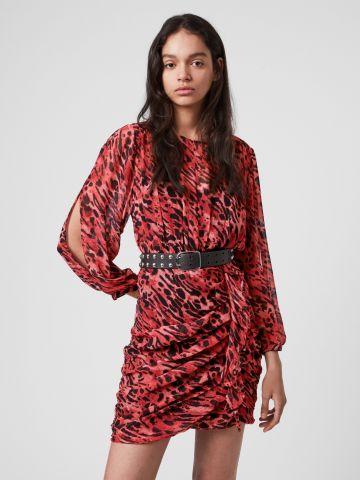 שמלת מיני בהדפס חברבורות של ALL SAINTS