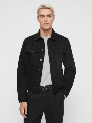 ג'קט ג'ינס עם שפשופים של ALL SAINTS