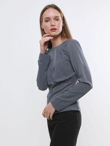 חולצה עם כיווצים וגב פתוח של TERMINAL X