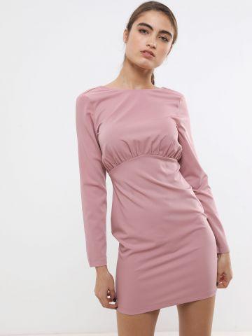 שמלת מיני עם כיווצים ושרוולים ארוכים של TERMINAL X