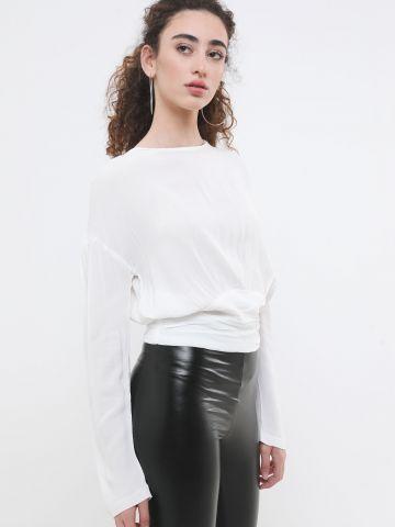 חולצה עם פס מותן רחב של TERMINAL X