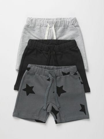 מארז 3 מכנסי פרנץ' טרי קצרים בצבעים שונים / 6M-6Y של TERMINAL X KIDS