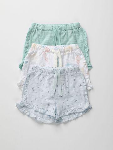 מארז 3 מכנסיים קצרים בהדפסים שונים / 3M-2Y של TERMINAL X KIDS