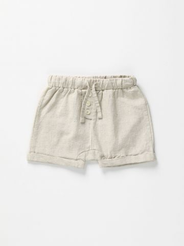מכנסי פשתן קצרים עם גומי / 3M-2Y של TERMINAL X KIDS