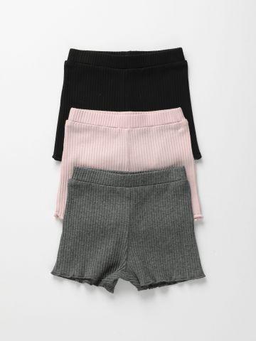 מארז 3 מכנסי ריב קצרים / 6M-6Y של TERMINAL X KIDS