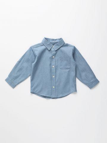 חולצה מכופתרת דמוי ג'ינס / 12M-6Y של TERMINAL X KIDS