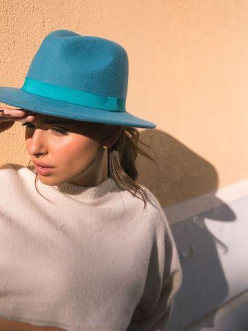 כובע צמר רחב שוליים Kory X של KIMOR X TERMINAL X
