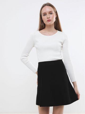 חצאית מיני דמוי צמר של TERMINAL X