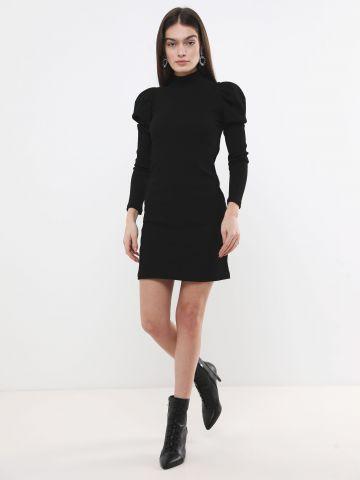 שמלת מיני ריב כתפיים נפוחות של TERMINAL X