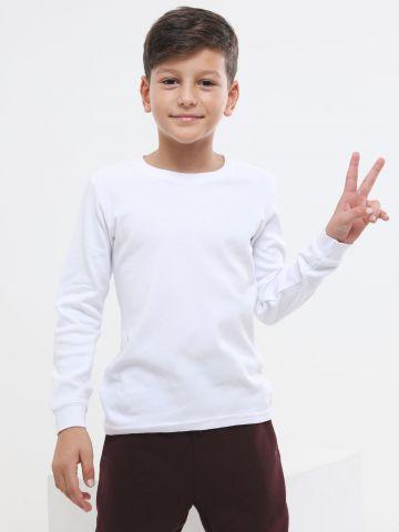 חולצת פלנל עם שרוולים ארוכים של FOX