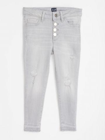 ג'ינס סקיני עם קרעים / בנות של GAP