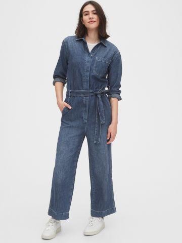 אוברול ג'ינס עם חגורת קשירה של GAP