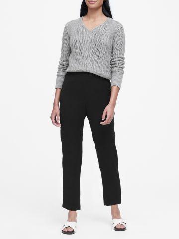 מכנסיים ארוכים Slim-Fit מבד נשפך של BANANA REPUBLIC