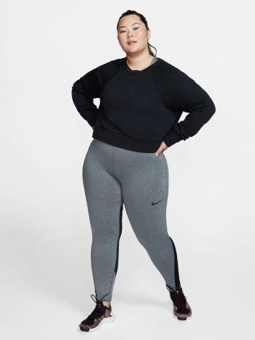 חולצת אימון Dri-FIT עם שרוולים ארוכים / Plus Size של NIKE