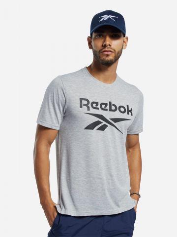 טי שירט אימון עם הדפס לוגו של REEBOK