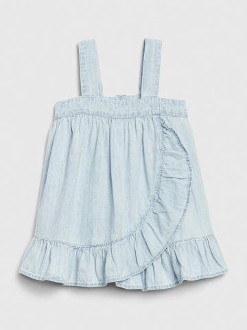 שמלת ג'ינס פפלום בסגנון מעטפת  / בייבי בנות של GAP