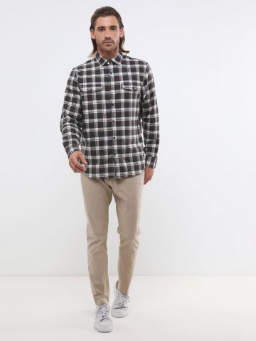 מכנסיים מחויטים Slim Core Temp של BANANA REPUBLIC
