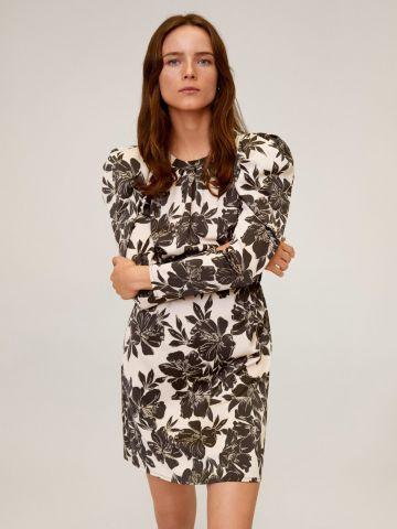 שמלת מיני פרחים עם פתח בגב של MANGO