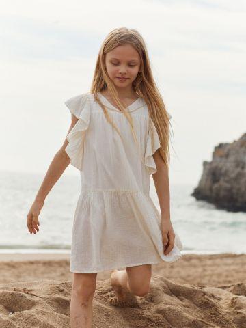 שמלה עם עיטורי מלמלה של MANGO