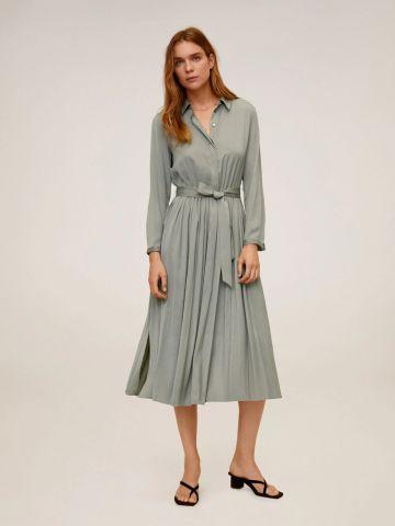 שמלת מקסי עם חצאית פליסה של MANGO