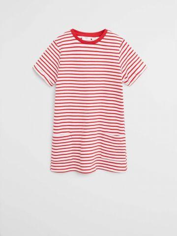 שמלת טי שירט בהדפס פסים / בנות של MANGO