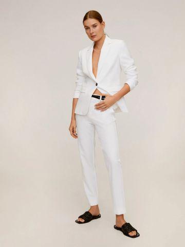 מכנסיים מחויטים עם חגורה של MANGO