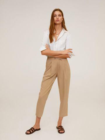 מכנסיים מחויטים בשילוב גומי מותן ושרוך של MANGO