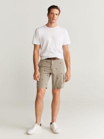 מכנסי ברמודה בהדפס אננסים של MANGO