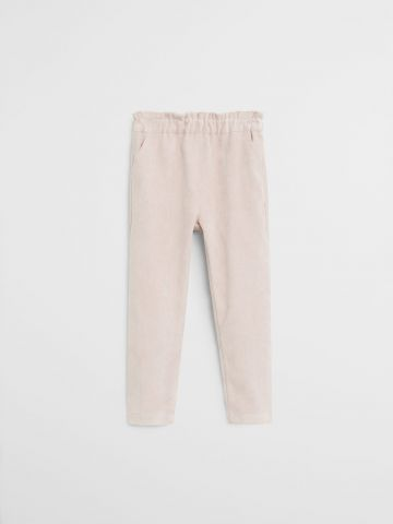 מכנסיים מבד רך עם כיסים / 9M-4Y של MANGO