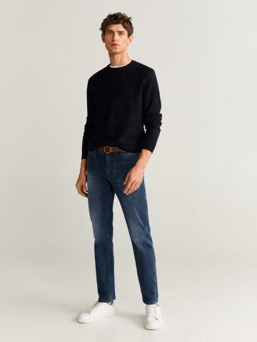 ג'ינס סלים-פיט בשטיפה כהה של MANGO