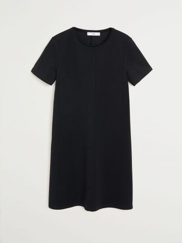 שמלת מיני חלקה שרוולים קצרים של MANGO