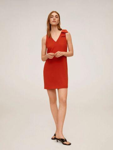 שמלת מיני עם כתפיות פפיון של MANGO
