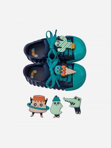 נעלי גומי לגו עם בובות מתחלפות / בייבי בנות של MELISSA