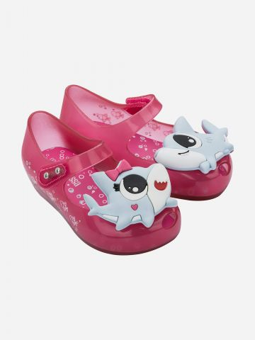 נעלי בובה עם בובת כריש / בייבי בנות של MELISSA