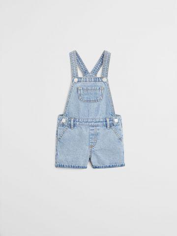 אוברול ג'ינס קצר/ בייבי בנות של MANGO