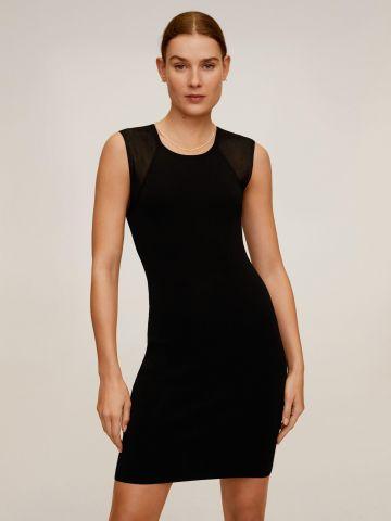 שמלת מידי עם כתפיות שיפון של MANGO