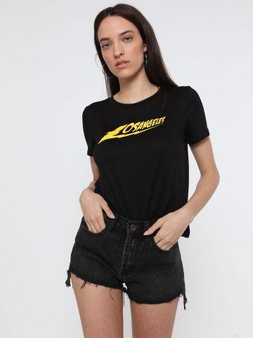 ג'ינס קצר עם סיומת פרומה של TERMINAL X