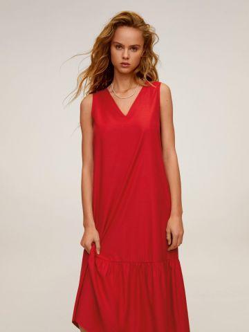 שמלת מקסי עם סיומת פפלום של MANGO