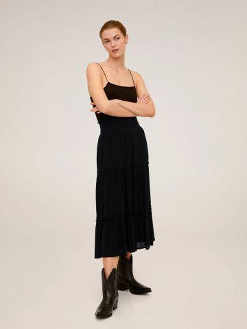 חצאית מידי קומות עם מלמלה של MANGO
