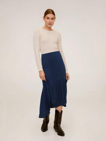 חצאית מידי בסיומת אסימטרית של MANGO