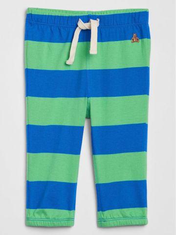 מכנסי טרנינג פסים עם רקמת דובי/ בייבי בנים של GAP