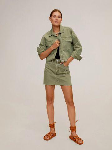 חצאית מיני עם סיומת פרומה של MANGO