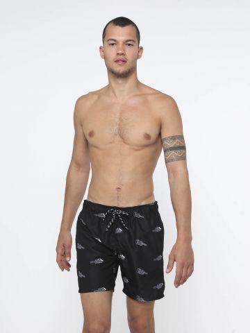 מכנס בגד ים בהדפס ארטיקים SURF של FOX